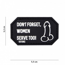 EMBLEEM 3D PVC DON'T FORGET WOMEN ZWART