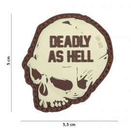 EMBLEEM 3D PVC DEADLY AS HELL COYOTE  16017