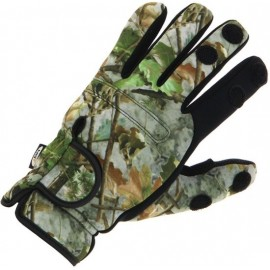 Neoprene Camo 'Fold Over Finger' Gloves - Medium