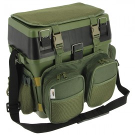 NGT Session Seat Box System with Removable Canvas Backpack  Holdall Attachment and Tray